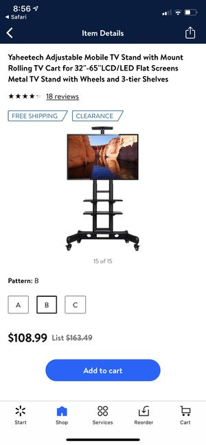 Adjustable mobile TV stand for Sale in Lemoore, CA