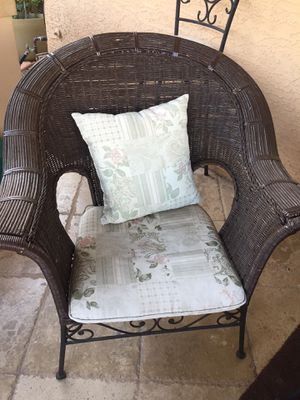 Patio Furniture sofa and table + free chairs for Sale in Glendale, AZ