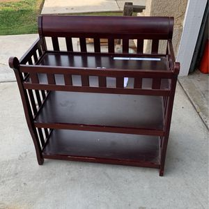 Cherry Wood Changing Table for Sale in Fresno, CA