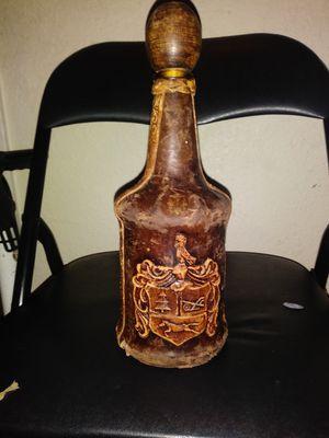 Antique italian leather bound wine bottle for Sale in Las Vegas, NV