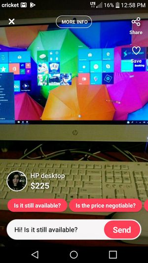 HP 22inch All-in-one desktop for Sale in Midland, TX