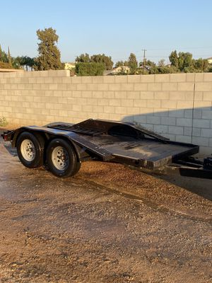 Trailer heavy duty, double axle trailer, car hauler rzr cuads can am for Sale in Norco, CA