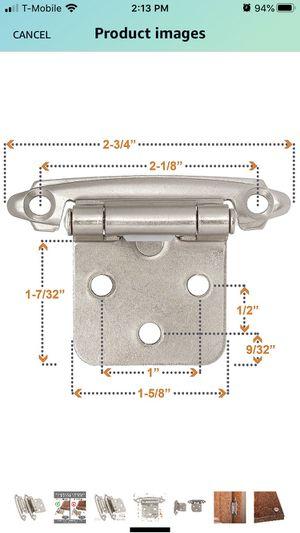 Overlay flush-mount cabinet hinges (50pcs/25 pair) for Sale in Mount Dora, FL