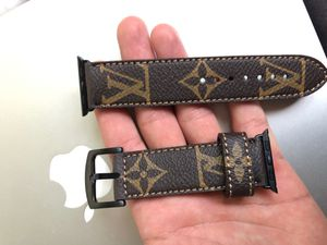 Louis Vuitton Apple Watch Band Leather AUTHENTIC 44,38, HANDMADE for Sale in Corona, CA