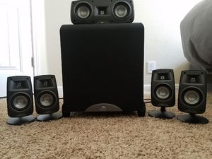 Klipsch Synergy Quintet III + Synergy 12' 300W Subwoofer. for Sale in Austin, TX