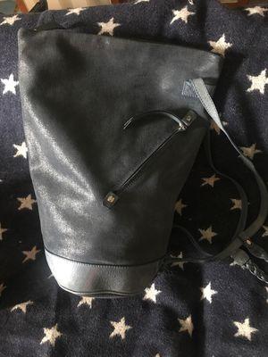 Francesco Biasia Blue Leather Metallic Duffle Large Bag for Sale in Winter Springs, FL