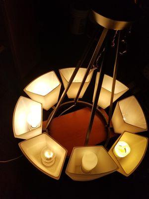Metal w/white glass globes light. Lamp See offers for more. for Sale in Mesa, AZ