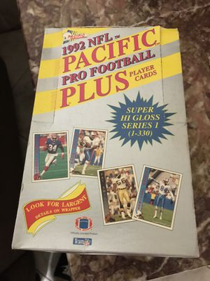 1992 Pacific NFL Football Cards New box for Sale in Pasadena, TX