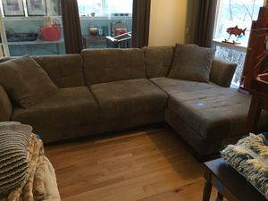 Grey Chaise Couch for Sale in Blaine, WA