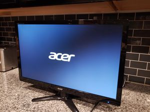 "Excellent Condition Acer 23.6"" LED Backlit Widescreen monitor / TFT active matrix. Full HD 1920×1080 5ms With 2 DVI to HDMI cables for Sale in Federal Way, WA"
