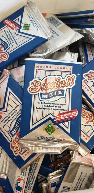 Rare**144** Unopened Packs of Upper Deck 1991 Baseball Cards for Sale in Lathrop, CA