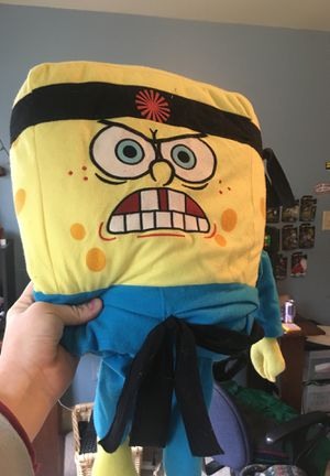Karate Spongebob Pillow / Toy / Stuffed animal for Sale in Highland, MD