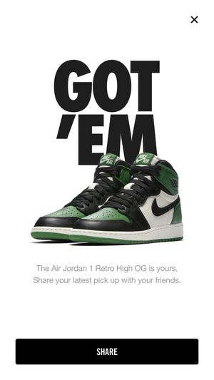 Jordan retro 1 pine green for Sale in Chicago, IL