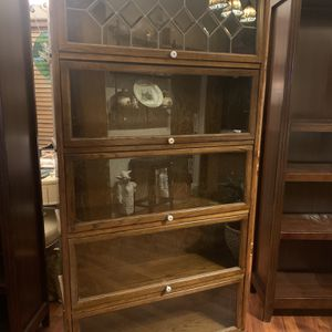 Book Shelf Or Display Cabinet With Sliding Glass Doors on Each Shelf for Sale in Bremerton, WA