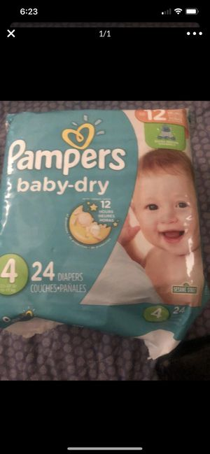 Pampers size 4 $6 each for Sale in Mesa, AZ