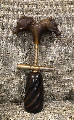 Vintage Corkscrews Wine bottle opener with Wooden Bell handmade Horse 🐴 handle collection for Sale in Alexandria,  VA