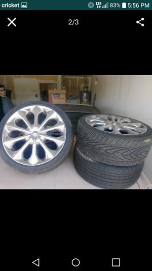 Seventeen inch universal rims. Good Low profile tires. for Sale in Phoenix, AZ