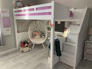Bunk bed with storage stairs for Sale in Estero, FL