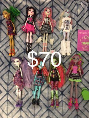 Mattel monster High doll lot of 8 Venus abbey Rochelle for Sale in Wichita, KS