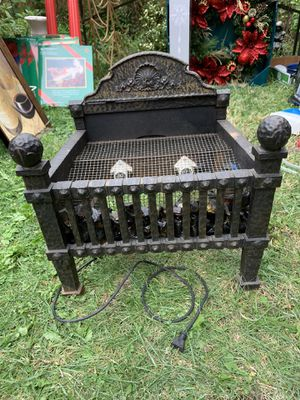 Antique Cast iron Electrical lite up Fireplace -Heavy for Sale in Chicago, IL