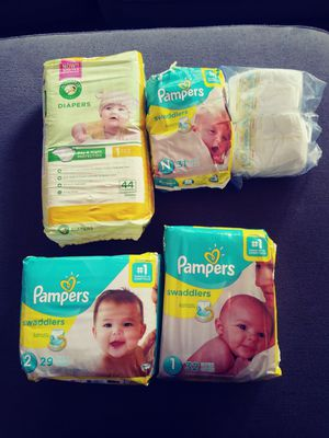 Pampers size 1 and 2 for Sale in Mountlake Terrace, WA