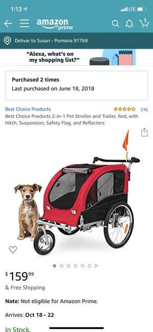 2 in 1 pet stroller and trailer for Sale in Pomona, CA