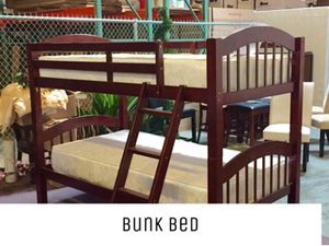 Twin over twin bunk bed with mattress and free delivery for Sale in Austin, TX