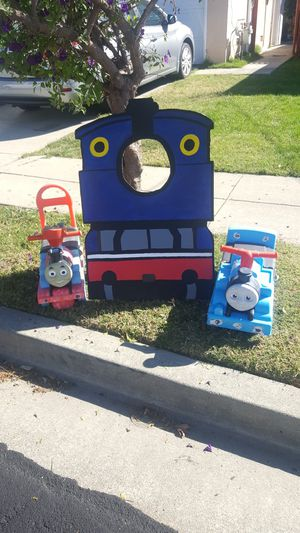 FREE -Push and go Thomas the steam engine. Hand made cut out of Thomas. for Sale in Newark, CA