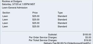Dodgers Tickets **Spring Training** for Sale in Corona, CA