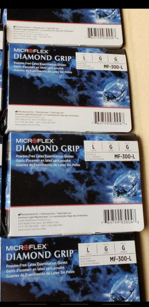 Microflex diamond grip size Large natural color 4️⃣ available $13 Each One for Sale in Los Angeles, CA