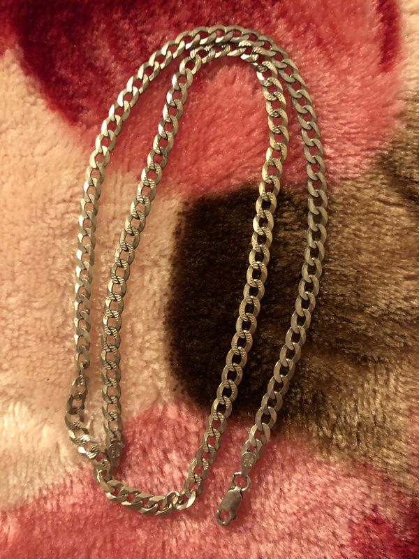 "22"" Sterling silver necklace 925"
