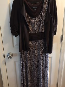 Brown dress with jacket smoke-free pet free home size14 for Sale in Imperial,  MO