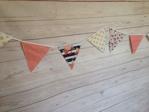 Penant banner, bunting banner, coral and gold for Sale in Buena Park, CA