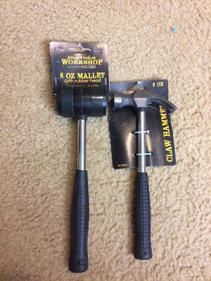 8OZ Mallet with rubber head and 8OZ Claw Hammer for Sale in UPPER ARLNGTN, OH