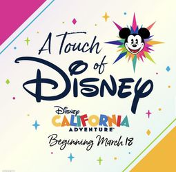 Touch of Disney (2 Tickets) OPENING DAY 3/18 for Sale in Anaheim,  CA