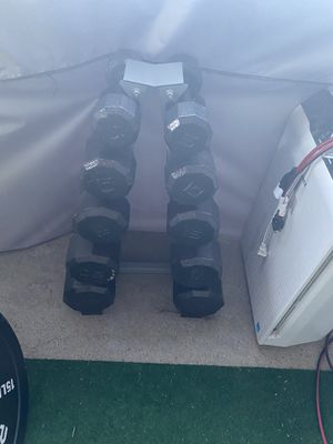 Weights home gym set for Sale in Gardena, CA