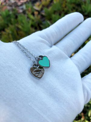 Tiffany & Co Double Heart Designer Teal Necklace for Sale in Montebello, CA