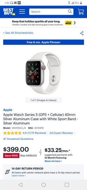 Apple watch 5 40mm silver for Sale in Pasadena, TX