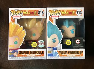 Funko POP! SUPER HERCULE Glow Specialty Series & VEGETA POWERING UP Chalice Exclusive - Dragonball Z NEW! for Sale in Dubuque, IA