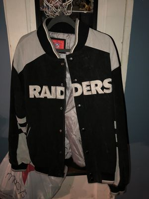 nfl vintage raiders jacket for Sale in Bronx, NY