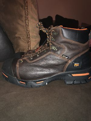 "MEN'S TIMBERLAND PRO® ENDURANCE 6"" STEEL TOE WORK BOOTS for Sale in San Bernardino, CA"