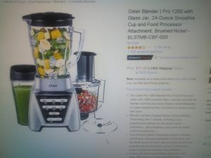 Oster Blender Pro 1200 with glass jar $60 for Sale in Oakland Park, FL