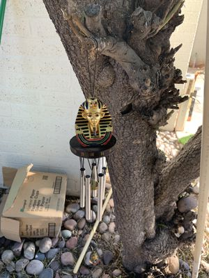 King tut Egypt themed wind chime for Sale in Mesa, AZ