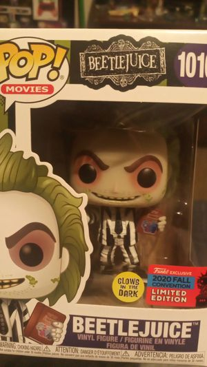 Beetlejuice Funko Pop exclusive limited edition glow in the dark for Sale in Princeton, TX