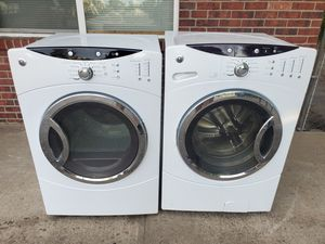 GE white washer and electric dryer set good working condition set for $449 for Sale in Wheat Ridge, CO
