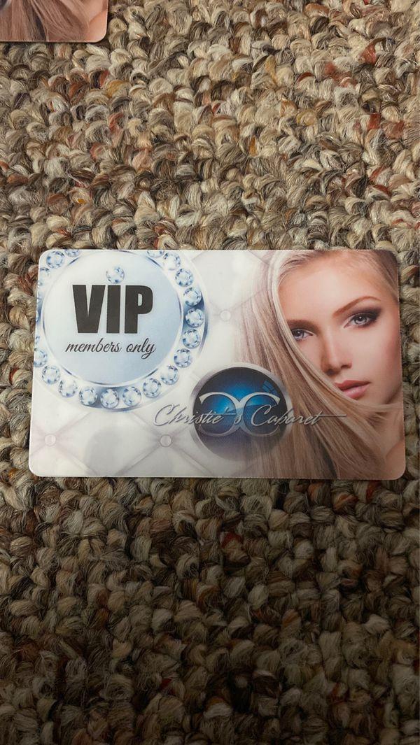 Christis vip card