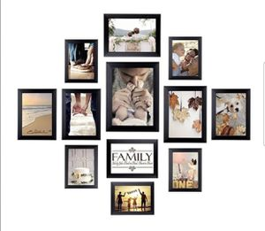 Homemaxs 12 Pack Picture Frames Collage Photo Frames Wall Gallery Kit for Wall and Home, One 8x10 in, Four 5x7 in, Five 4x6 in, Two 6x8 in, Black for Sale in Porter Ranch, CA