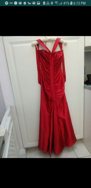 Mermaid style red satin dress for Sale in West Palm Beach, FL