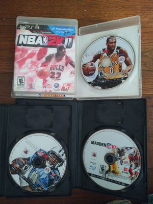Video games nba madden ps3 for Sale in Fresno, CA
