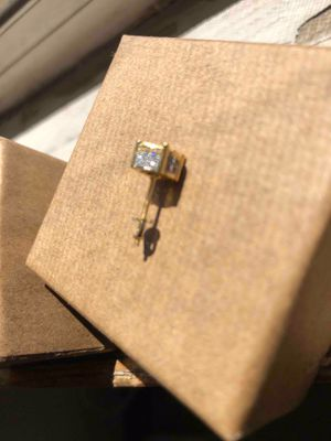 men ice out gold diamond earrings for Sale in Gary, IN